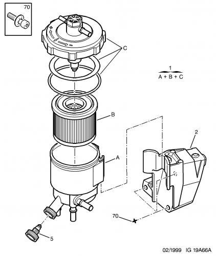 filtre  u00e0 gazole - entretien - peugeot 406