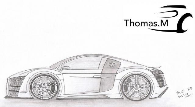 Dessins thomas m page 4 divers loisirs forum - Coloriage audi r8 ...