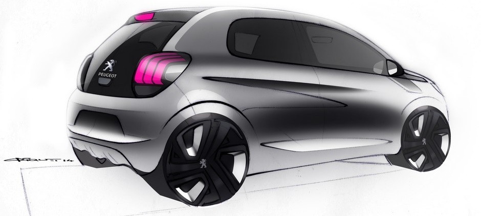Sketch officiel de la Peugeot 108 (2014 > ...)