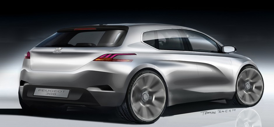 Sketch officiel de la Peugeot 308 (2013 > ...)