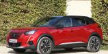 Peugeot e-2008 rouge Elixir vue profil
