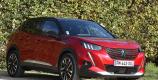 Peugeot e-2008 rouge Elixir vue avant