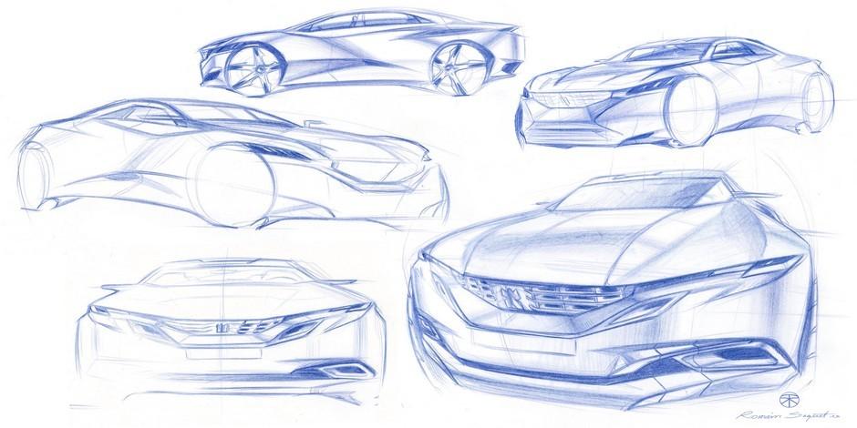 Sketchs officiels de la Peugeot Exalt (2014)