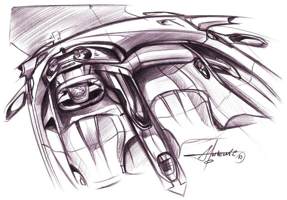 Sketch officiel de l'habitacle
