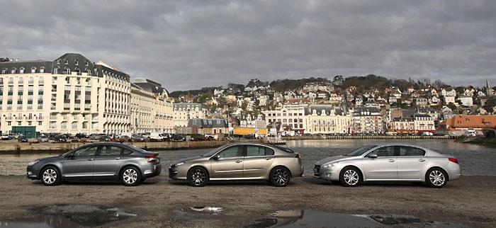 Essai comparatif Peugeot 508 Citroen C5 Renault Laguna