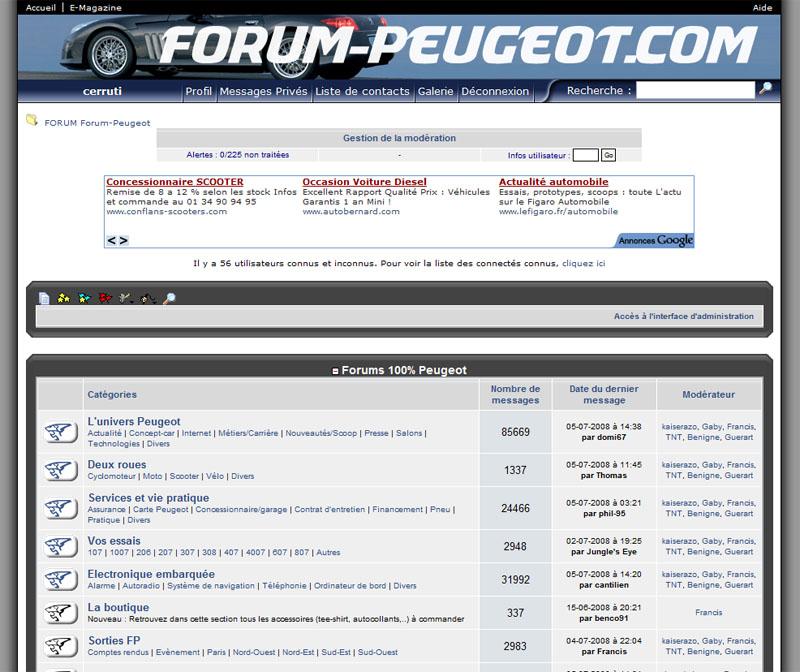 Le forum en 2003