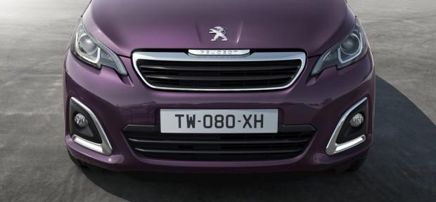 La face avant de la Peugeot 108