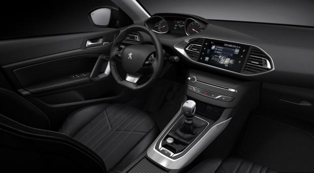 L'intérieur de la Peugeot 308