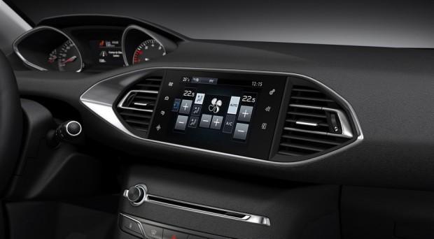 L'écran tactile de la Peugeot 308