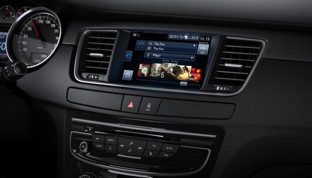 L'écran tactile de la Peugeot 508