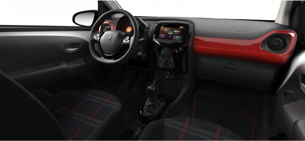 Peugeot 108 GT-Line : Chaîne & Trame Carolight Rouge