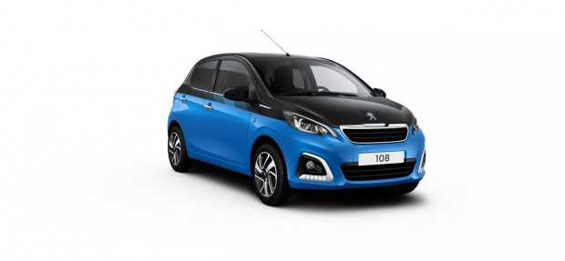 Peugeot 108 Allure Dual French Blue - Noir Caldera