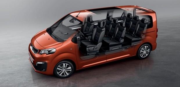 Les possibilités de modularité du Peugeot Traveller