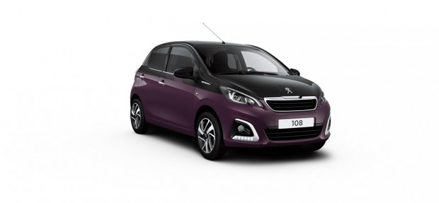 Peugeot 108 Allure Dual Red Purple - Noir Caldera