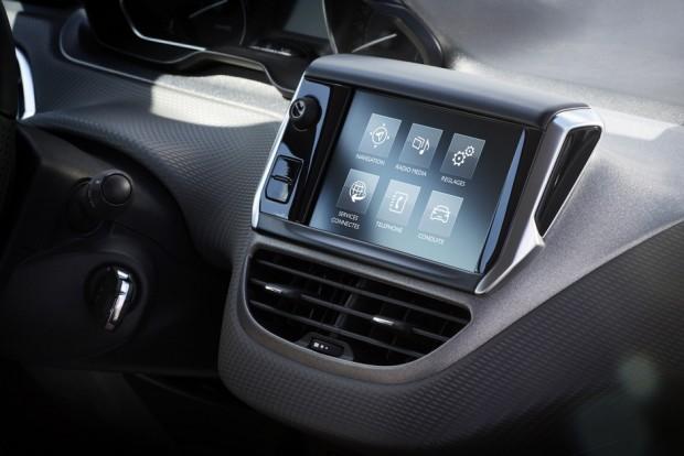L'écran tactile de la Peugeot 208