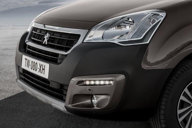 La face avant du Peugeot Partner Tepee