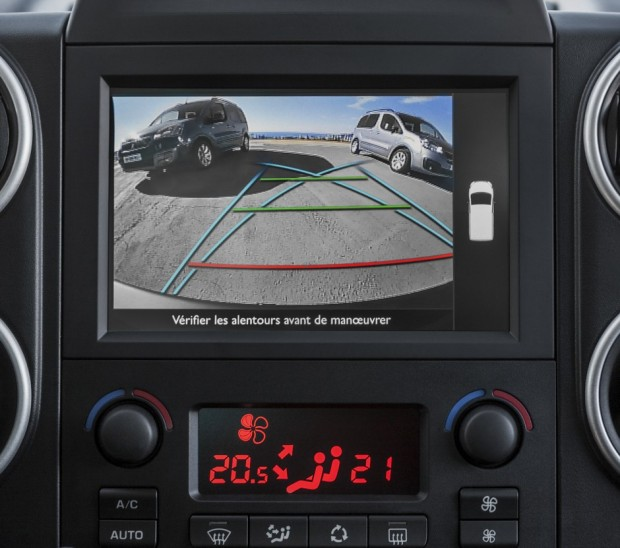La caméra de recul du Peugeot Partner Tepee