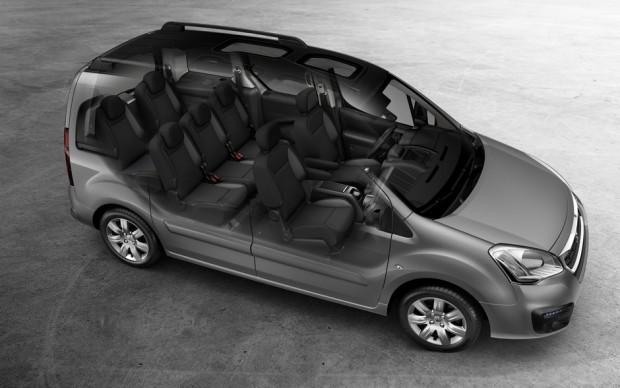 Le Peugeot Partner Tepee peut emporter jusqu'à 7 personnes