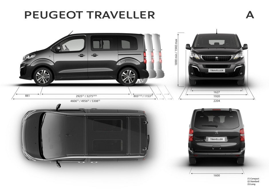 peugeot traveller dimensions ext rieures et int rieures forum. Black Bedroom Furniture Sets. Home Design Ideas