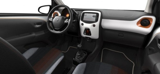 Peugeot 108 Top! Roland Garros : Chaîne & Trame Rayura Sirocco Orange