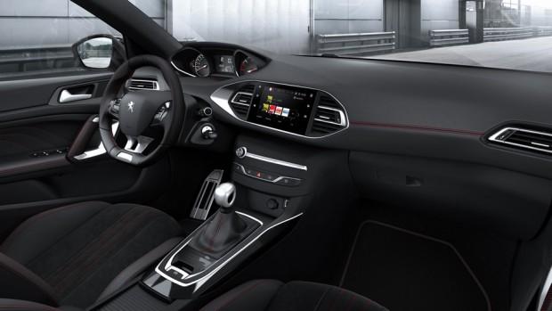 L'habitacle de la Peugeot 308 GT