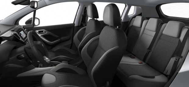 Peugeot 2008 Allure : TEP - Tissu Rayados Noir - Gris
