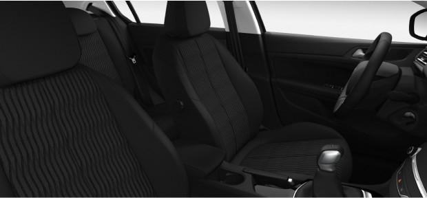 Peugeot 308 Active : Chaîne & Trame Metax Noir Mistral avec surpiqûres