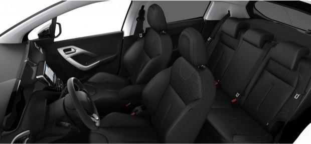 Peugeot 208 : Pack Cuir Claudia Noir Mistral