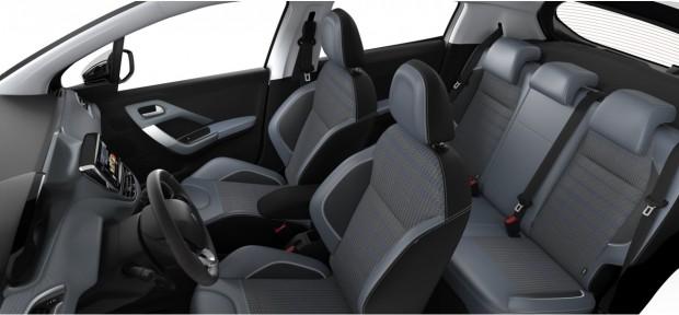 Peugeot 208 : Mi-TEP PU Textile Oxford Menthol White