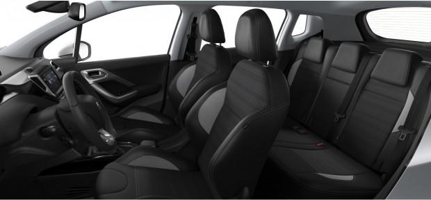 Peugeot 2008 Allure : TEP - Tissu Oxford Noir Mistral
