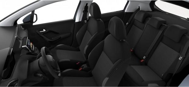 Peugeot 208 Active et Style : Tissu Cran Mistral