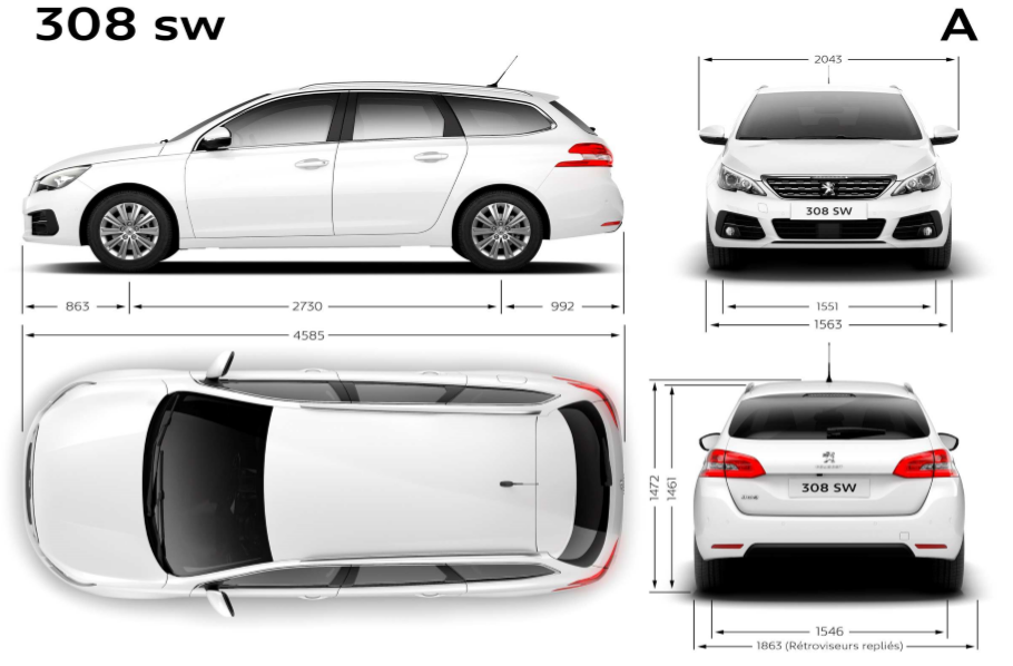dimension coffre 308 sw dimension coffre 308 sw the motoring world the all new peugeot 308 sw