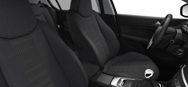 Peugeot 308 Allure : TEP/Tissu Oxford Noir Mistral