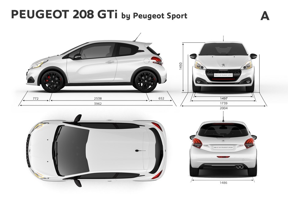 peugeot 208 gti dimensions ext rieures et int rieures forum. Black Bedroom Furniture Sets. Home Design Ideas