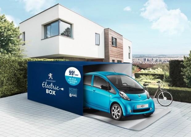 La Peugeot Electric Box combine la Peugeot iOn et un vélo électrique