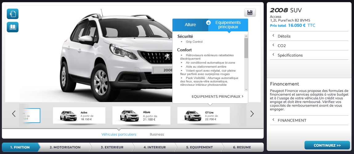 le configurateur du peugeot 2008 restyl est disponible forum. Black Bedroom Furniture Sets. Home Design Ideas