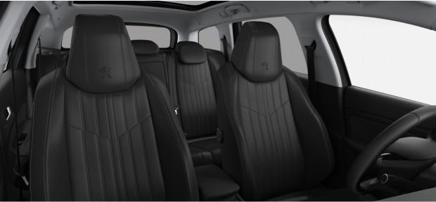 Peugeot 308 SW : Pack Cuir Nappa Noir Mistral