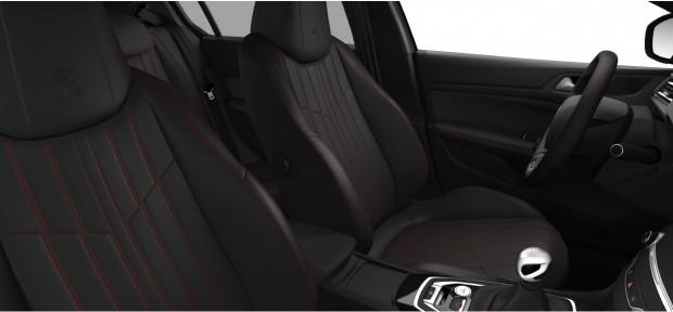 Peugeot 308 GT : Pack Cuir Nappa Noir Mistral