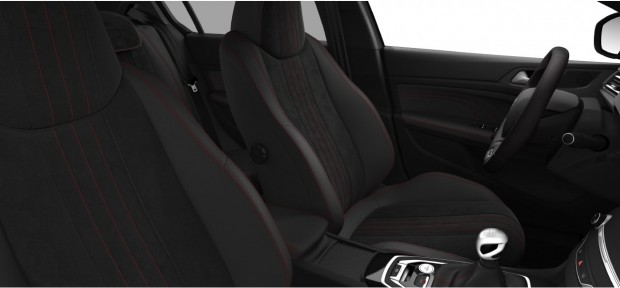 Peugeot 308 GT : TEP-Alcantara Noir Mistral