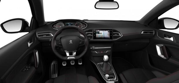 L'intérieur de la Peugeot 308 GT-Line