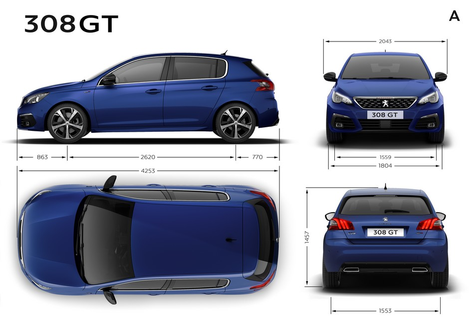 peugeot 308 308 sw gt dimensions ext rieures et int rieures forum. Black Bedroom Furniture Sets. Home Design Ideas