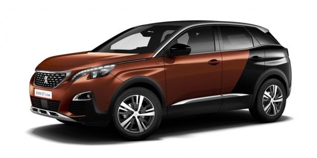 Peugeot 3008 GT-Line Coupe Franche Metallic Copper