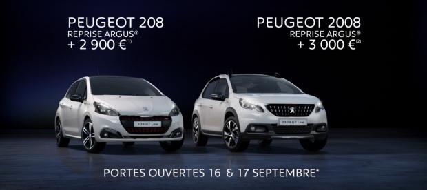 Des offres de reprise sur les Peugeot 208 et 2008