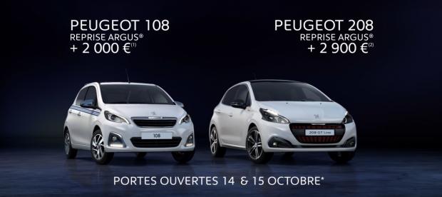 Des offres de reprise sur les Peugeot 108 et 208