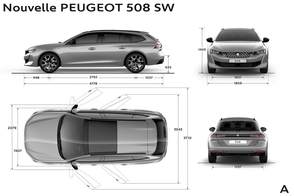 peugeot 508 sw dimensions ext rieures et int rieures forum. Black Bedroom Furniture Sets. Home Design Ideas