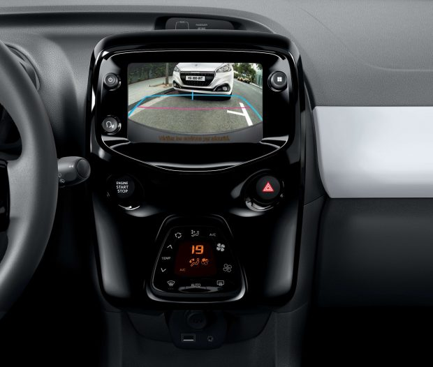La Peugeot 108 peut être équipée d'une caméra de recul