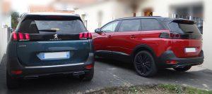 Comparatif Peugeot 5008 ancien (2017) et restylé (2020)